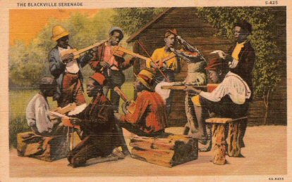Blackville Serenade Real Picture Postcard